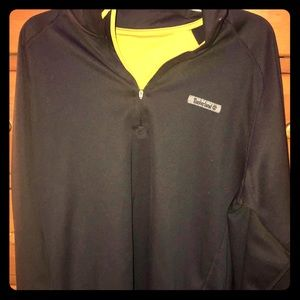 Timberland black fleece pull over Size Large